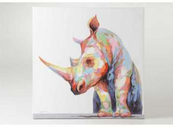 Toile rhinocéros 100x100 cm