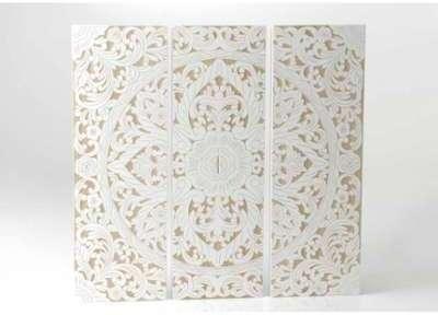 Triptyque rosace x3 blanc