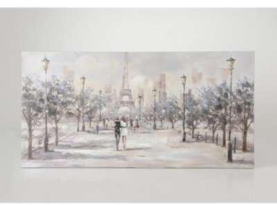 Toile amoureux de Paris 150x50