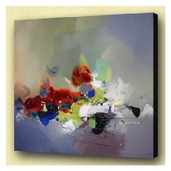 Tableau abstrait sur toile