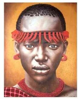 Tableau portrait femme africaine