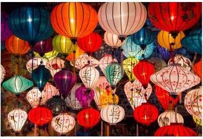 Tableau Voyage Lanternes Asiatiques