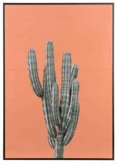 Grand cadre cactus orange