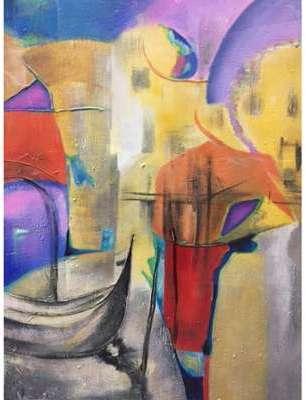Tableau Abstrait Venise