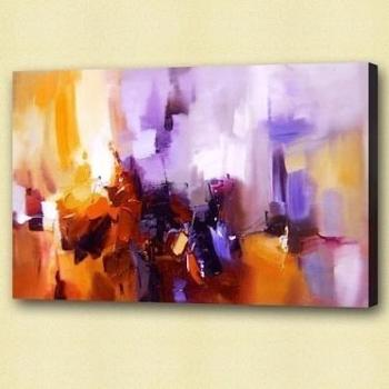 Tableau abstrait violet Jazzy