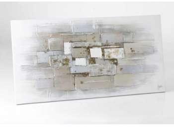 Toile abstraite silver 140x70