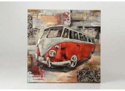 Plaque vintage combi rouge