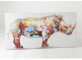 Toile rhinocéros 70x140 cm