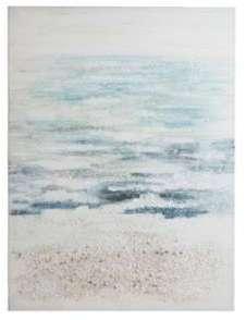 Tableau plage mer bleu et
