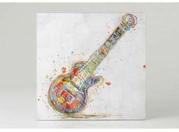Toile guitare confetti colorée