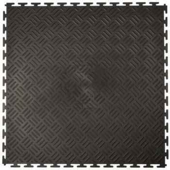 Dalles PVC Checker noir