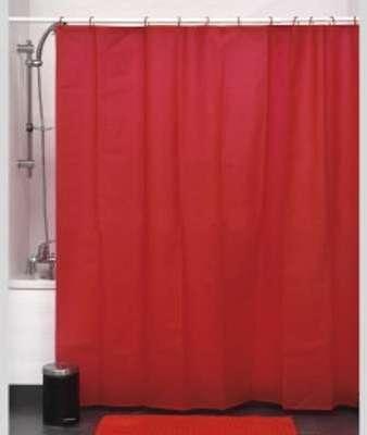 Rideau de douche Rouge