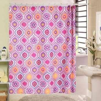 Rideau de douche Inde rose