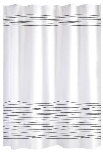 Rideau de douche blanc lignes
