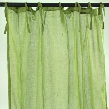 Voilage à nouettes vert 110x250cm