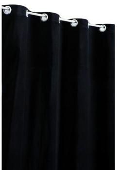 Rideau Velours de Coton Noir