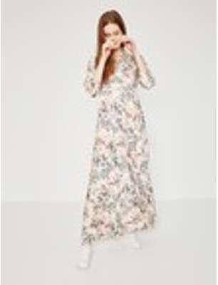 Longue robe chemisier Femme