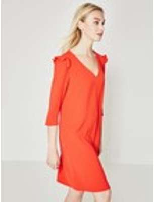 Robe manches coude Femme