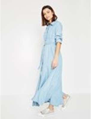 Longue robe chemise Femme