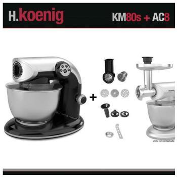 Robot pétrin KM80 S Noir Accessoires