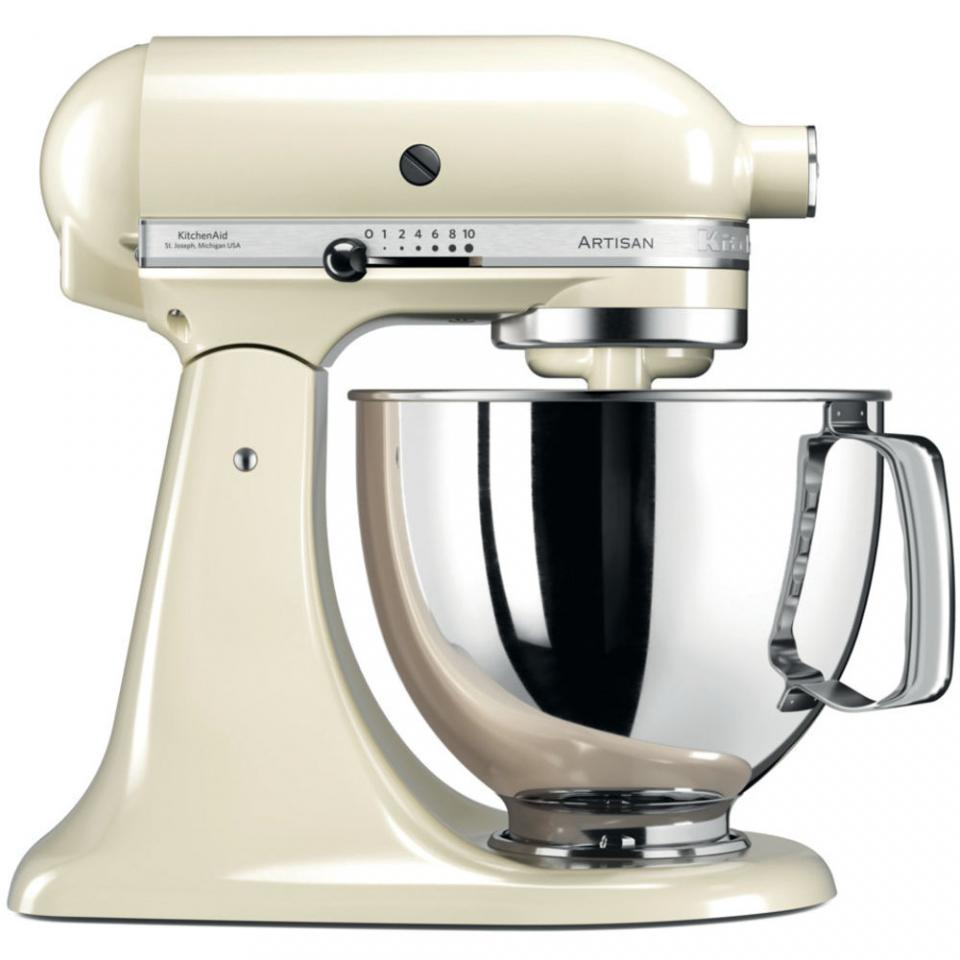 robot menager kitchenaid robot p tissier multifonction artisan 4 8l cr me 5ksm125eac. Black Bedroom Furniture Sets. Home Design Ideas