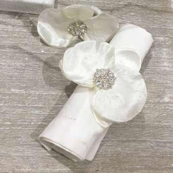 6 ronds de serviette orchidée