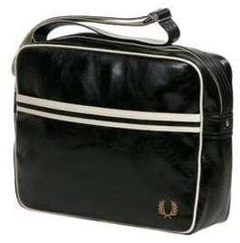 Besace Fred Perry Classic Shoulder Bag Black/Ecru noir XZci6z