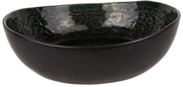 Saladier rond noir et vert