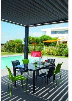 Table de jardin rectangulaire