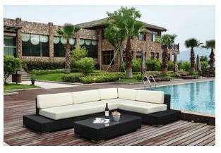 Grand mobilier canapé de jardin