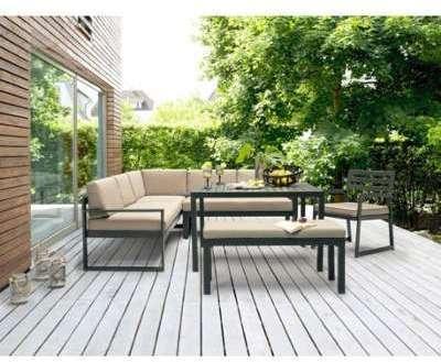Kettler Table Loft ardoise 220x94 cm - Couleur Anthracite