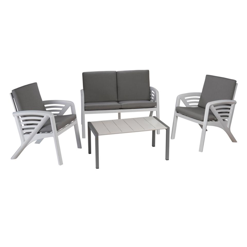 grosfillex fauteuil deco vegetal blanc