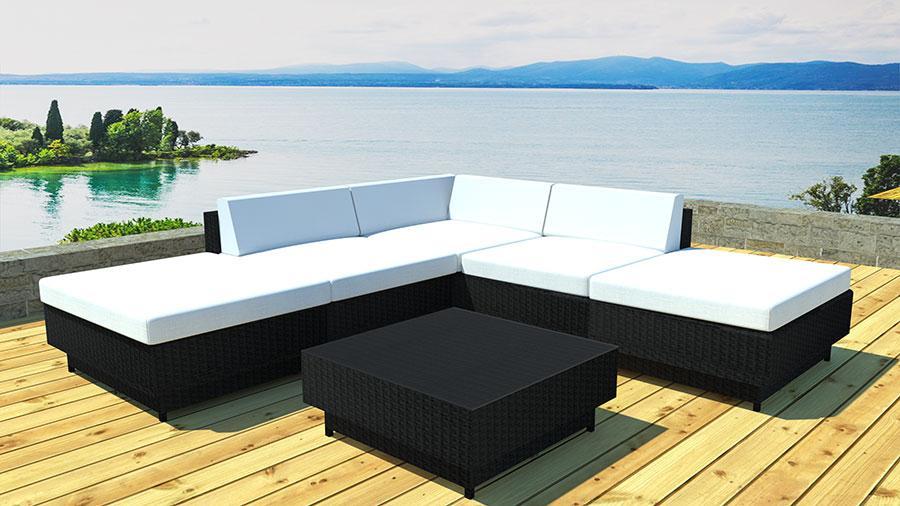 table basse de jardin noire. Black Bedroom Furniture Sets. Home Design Ideas