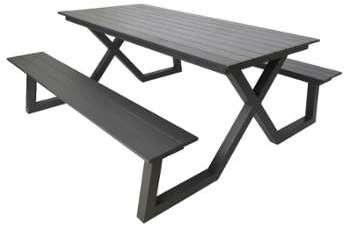 Ensemble table et banc pique