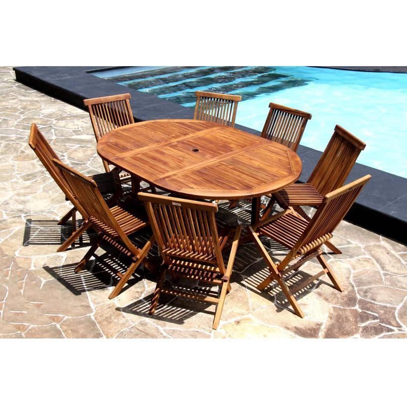 Catgorie salon de jardin page 10 du guide et comparateur d - Table de jardin ovale en bois exotique ...