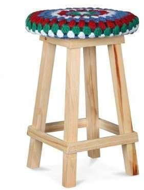 Tabouret Multicolore en bois