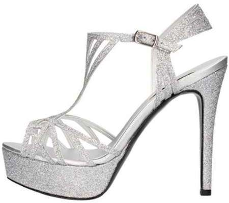 Pedro Rodriguez 3024 Sandale élégante Femme Argent Argent - Chaussures Sandale Femme