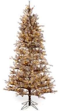 Sapin Noël marron 270 cm givré