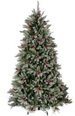 Sapin de Noël 210 cm enneigé