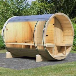 Sauna vapeur extérieur - Baril