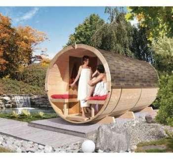 Sauna Tonneau 4 avec vestibule