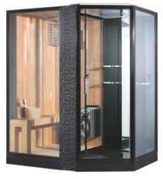 Sauna combiné douche design