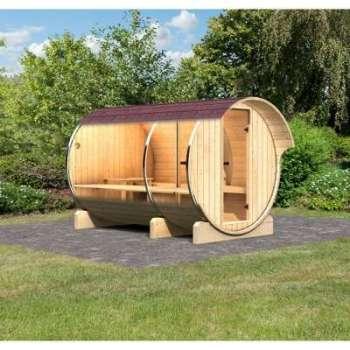 Sauna Tonneau 3 avec vestibule