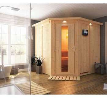 Sauna traditionnel d angle