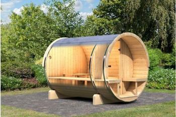 Sauna vapeur extérieur Baril