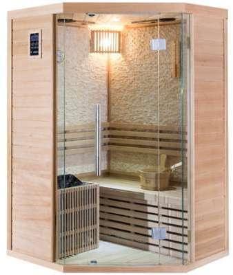 Sauna traditionnel d angle
