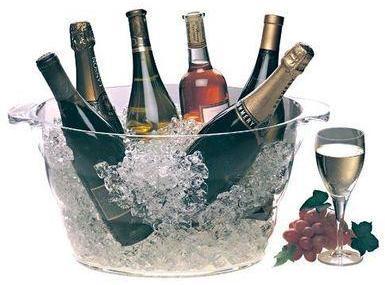 Vasque à champagne ovale en