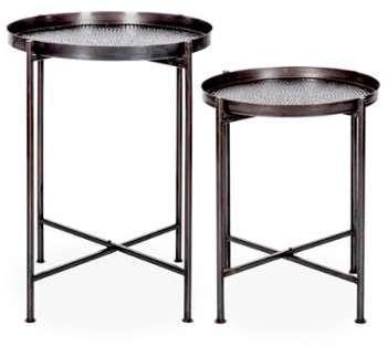 Lot de 2 tables d appoint
