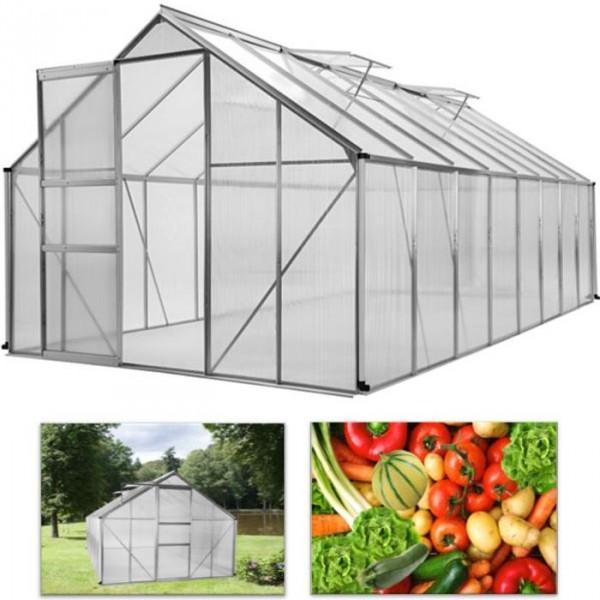 Probache bche arme transparente 8x12m renforce - Serre de jardin en aluminium et polycarbonate ...