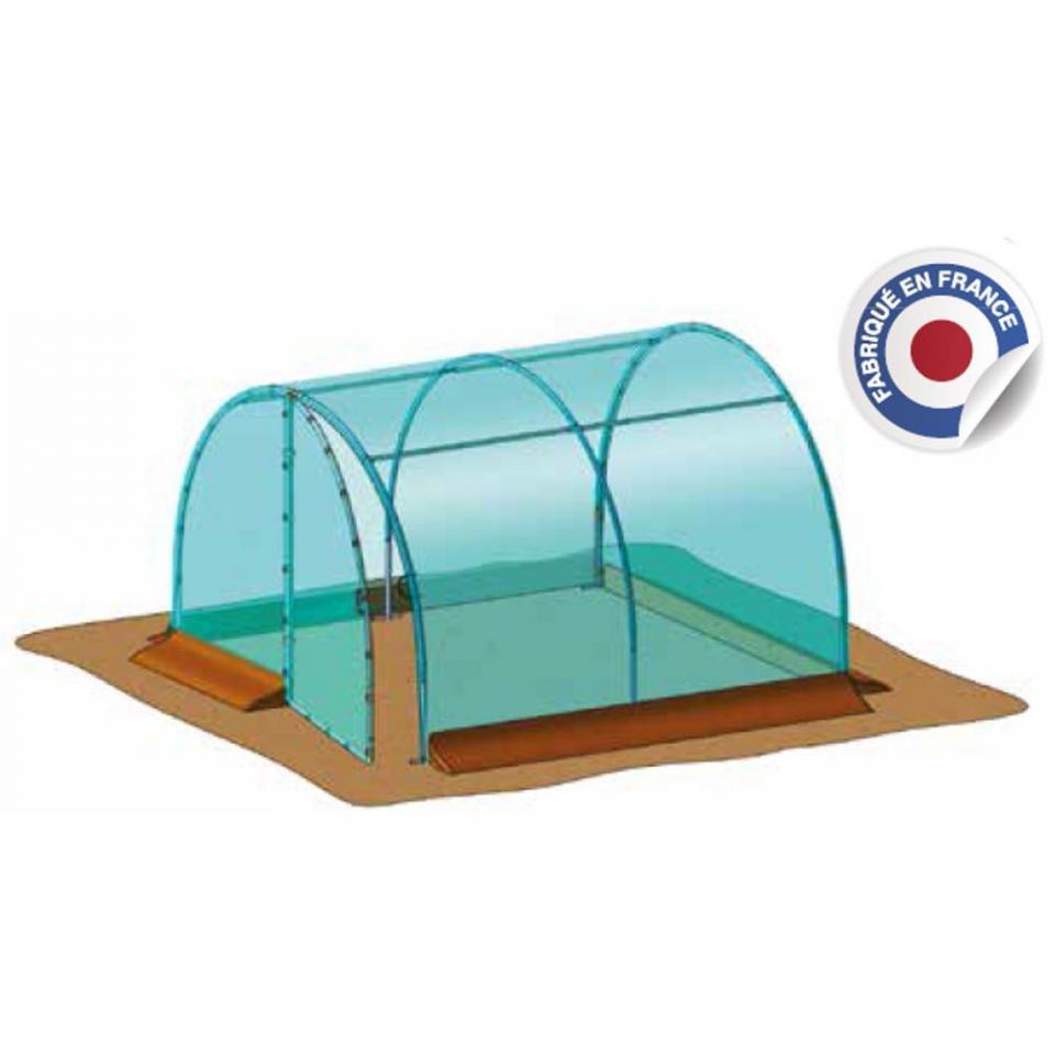 Richel serre de jardin tunnel 3x3 pied droit 2x180 1 po for Serre de jardin richel
